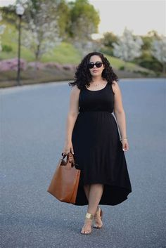 Plus Size Fashion - Plus Size High Low Dress - Girl with Curves Vestidos Plus Size, Plus Size Dresses, Plus Size Outfits, Curvy Girl Fashion, Plus Size Fashion, Mode Xl, Casual Dresses, Girls Dresses, Casual Outfits