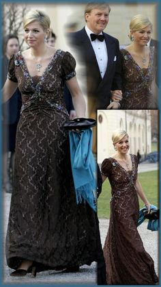 PRINSES MAXIMA Dutch Princess, Nassau, Kate And Pippa, Gala Gowns, Royal Beauty, Grace And Lace, Royal Queen, Royal Dresses, Mode Chic