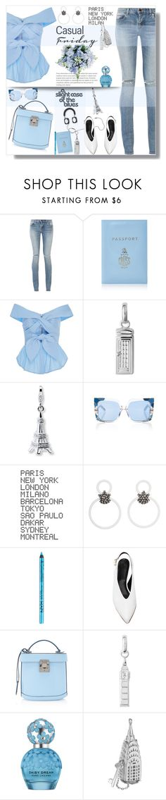 """Casual Friday 💙✨💋"" by selmendonca ❤ liked on Polyvore featuring Yves Saint Laurent, Mark Cross, Johanna Ortiz, Links of London, Pared, ADZif, Marni, NYX, TIBI and Marc Jacobs"