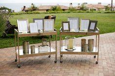 Elegant frames / gold table numbers/ settings.Terranea Wedding from Jasmine Star + Sterling Social + R.Jack Balthazar  Read more - http://www.stylemepretty.com/2012/08/14/terranea-wedding-from-jasmine-star-sterling-social-r-jack-balthazar/