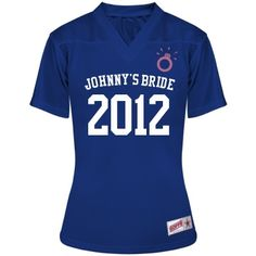 Mesh Football Jersey -   Team Bride! Customize this cute jersey for the bachelorette party or just a cool design to support the bride.   [Too bad its not a hockey jersey]