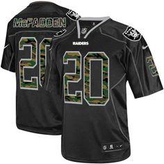 Elite Mens Nike Oakland Raiders http://#20 Darren McFadden Camo Fashion Black NFL Jersey $129.99