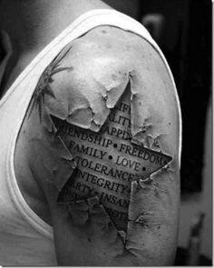 tatuagens realistas estrela
