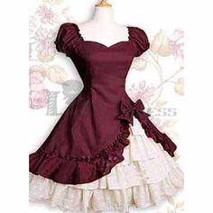 Cheap Short Sleeves Bowknot Multi-Layer Purple Classic Lolita Dress
