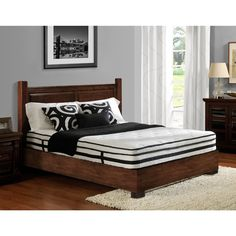 DHP Signature Sleep Evolution Euro Top Queen-size Mattress, Black