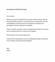 27 best interview thank you notes images on pinterest job