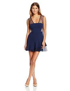 BCBGMAXAZRIA Women's Petite Adriana Asymmetrical Ruffle Lace Hem Dress, Dark Ink, 2 BCBGMAXAZRIA http://www.amazon.com/dp/B00J66OOMO/ref=cm_sw_r_pi_dp_LrHBub184G8T2