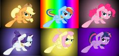 MLP - The Mane 6 Sliding (Click the Pin Above to Download the Wallpaper!)