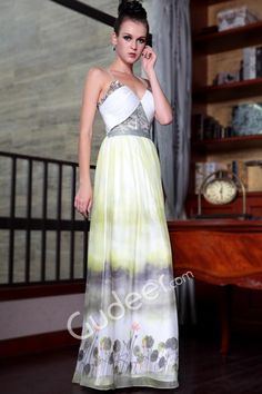 Print Sleeveless Spaghetti Straps Sequin A-line Long Prom Homecoming Dress