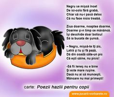 Copilul este lenes? Poezie terapeutica: Negru Kids Education, Nursery Rhymes, Preschool Activities, Diy And Crafts, Parenting, Learning, Bebe, Early Education, Studying