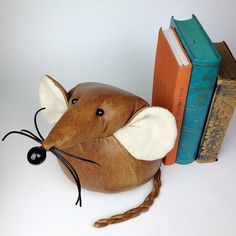 Handmade Monty The Giant Mouse by Yellow Rose Design, the perfect gift for Explore more unique gifts in our curated marketplace. Les Rats, House Mouse, Rose Design, Soft Sculpture, Felt Animals, Yellow Roses, Black Glass, Natural Leather, Bookends