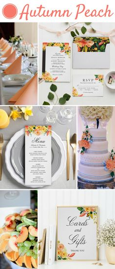 Are you looking for an elegant and luxurious fall wedding invitation suite? Choose this Watercolor Autumn Peach Floral Wedding Invitation Suite will be the perfect match for your wedding color scheme.