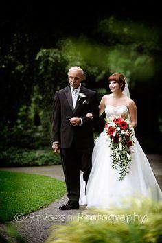 Vancouver wedding photographer - Povazan Photography - minter garden bride and dad
