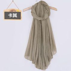 Women's Solid Color High Quality Linen Cotton Scarves For Winter/Autumn - 20 Colour khaki  Scarves Women winter autumn fashion style products gift outfit accessories fall simple beautiful chic shops ideas  shop store sell buy online 2017 websites