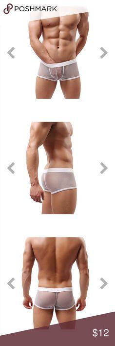 74713d0ddf162d Soutong Sexy Men Underwear Transparent Mesh Boxer Soutong New Sexy Men  Underwear Transparent Mesh Boxer With