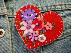 felt brooch by gretchent on Etsy, $14.50