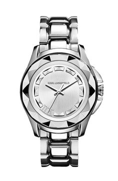 KARL LAGERFELD '7' Beveled Bezel Bracelet Watch, 36mm available at Nordstrom