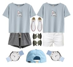 """""""101 dalmations"""" by samanthathegymnast on Polyvore featuring Frame Denim, Converse and Ray-Ban"""