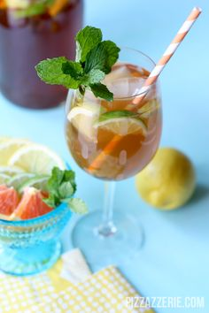 Bring a pitcher of this Sangria with Iced Tea and Lemonade to your next get together and be the talk of the party!