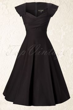 love this!!Stop Staring! - 50s Mad Men swing dress black