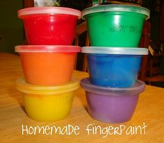 Home made finger paint