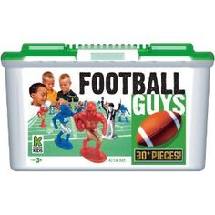 Football Guys ~ just like little green army men, but red and blue football players. I love these for arts and crafts, entertaining (cake/cupcake decorating)..etc..  ~Go Patriots & Giants!