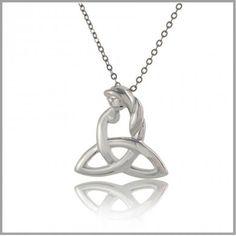 Celtic Mothers Knot Necklace - Celtic Motherhood Jewelry - Celtic Mothers Knot Meaning