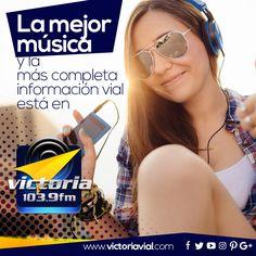 Sintoniza #Victoria1039FM ... y déjate acompañar por nuestra música y por la más completa información vial del centro del país.