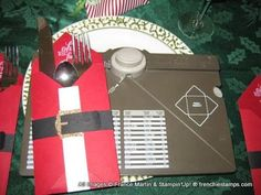 Envelope Punch Board =Christmas Table Setting DYI fun and easy