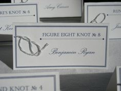Tie the Knot Nautical Place Cards by FarahAlease on Etsy I love these!!!! Different tables are different knots. Love it!