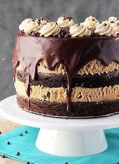 Homemade Chocolate Peanut Butter// Cake RECIPE.So Rich Amazing Dessert..