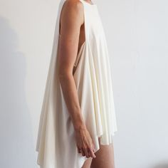 Cream Short Tayageta Dress