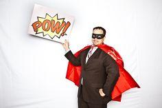 Rethink Romp 2010 | #superhero #cap #mask #suit #pow #signage #red #creative #ideas #inspiration #crimsonphotos | Photography By: Crimson Photos