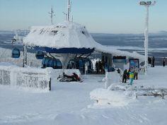 Gondola2000 cabin lift - upper lift station at #LeviLapland #Lapland #Finland #skiresort