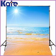 5*7FT Kate Custom Sea Beach Backdrops Photography Backgrounds Fondos Fotografia Sunrise Holiday Photo Backdrops For Photography