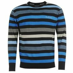 Pierre Cardin Stripe Crewneck Knitted Top - SportsDirect.com