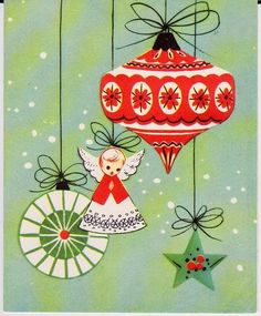 A darling vintage Christmas card. #vintage #Christmas #cards