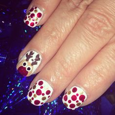 Christmas Nail Art 2014 using dotting tools from Sally's.