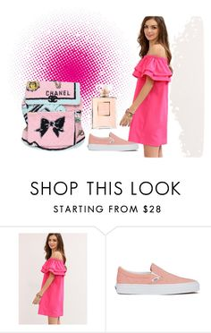"""Pretty In Pink"" by ema123-clxvi ❤ liked on Polyvore featuring Vans and Chanel"