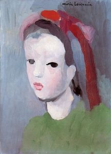 Little Girl with Ribbons in Her Hair - Marie Laurencin - The Athenaeum