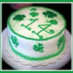 A St. Patrick's Day birthday cake.  Shamrock Cake.jpg