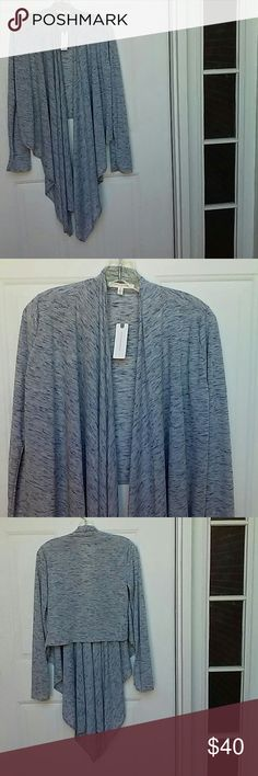 Anthropologie Cascadia Cardigan Beautiful Anthropologie Cardigan, open front, high-low hemline. Cardigan is polyester, rayon, and acrylic. Machine washable. Cardigan dimensions 34.75 L. Anthropologie Sweaters Cardigans