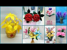 Diy Ribbon Flowers, Diy Crafts How To Make, Flower Making, Make It Simple, The Creator, The Incredibles, Plants, Easy, Youtube