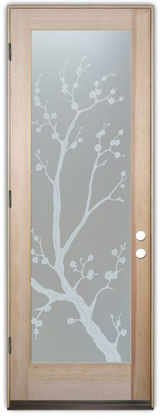 frosted glass doors cherry tree obscure