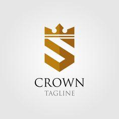 Vintage Crown Logo And Letter S Symbol Car Logo Design, Wedding Logo Design, Logo Design Template, Web Design, Lettering Design, Logo Templates, Icon Design, S Letter Logo, Letter Icon