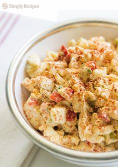 Deviled Egg Salad ~ An egg salad made in the style of deviled eggs, with mustard, mayo, hot sauce and paprika. ~ SimplyRecipes.com