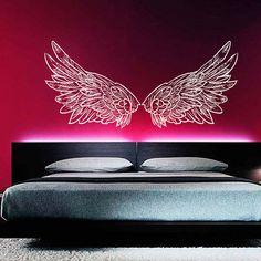 Wall Decal Vinyl Sticker Decals Home Decor Art Mural Big Wings Bird Angel God Guardian Nursery Children Kids Bedroom Dorm AN304