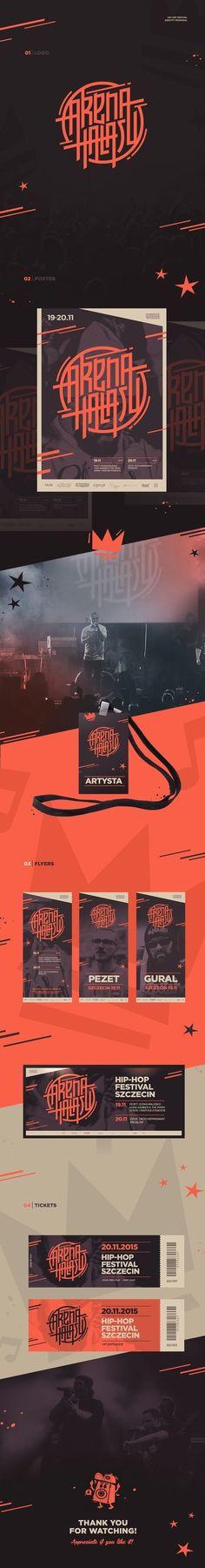 Arena Hałasu hip hop festival Branding by Piotr Kubicki in Poster