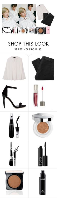 """""""Selcas with Jimin and Jin"""" by the-broken-angel ❤ liked on Polyvore featuring Gestuz, ASOS, Lancôme, NARS Cosmetics and MAC Cosmetics"""