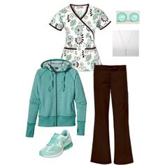 A fashion look from February 2013 featuring Patagonia hoodies, NIKE athletic shoes and FOSSIL necklaces. Browse and shop related looks. Scrubs Outfit, Scrubs Uniform, Medical Uniforms, Work Uniforms, Medical Scrubs, Nursing Scrubs, Cute Scrubs, Cute Nurse, Nursing Clothes